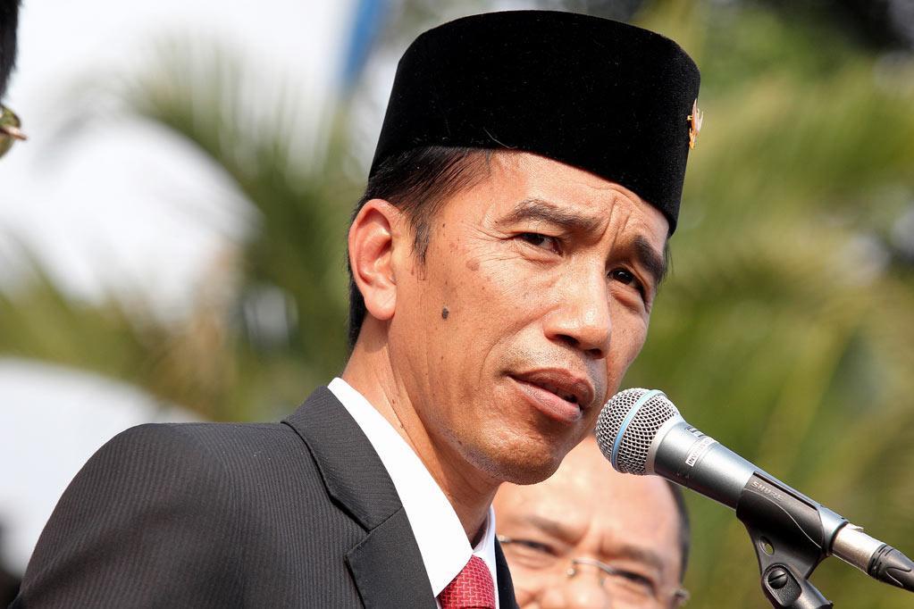 Presiden Joko Widodo memberikan sambutan dalam program \