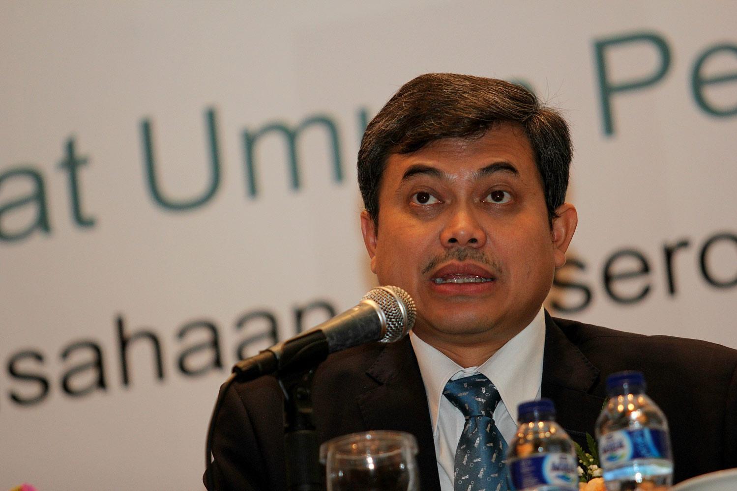 Direktur Utama PT Antam, Tedy Badrujaman di Jakarta, (07/10).