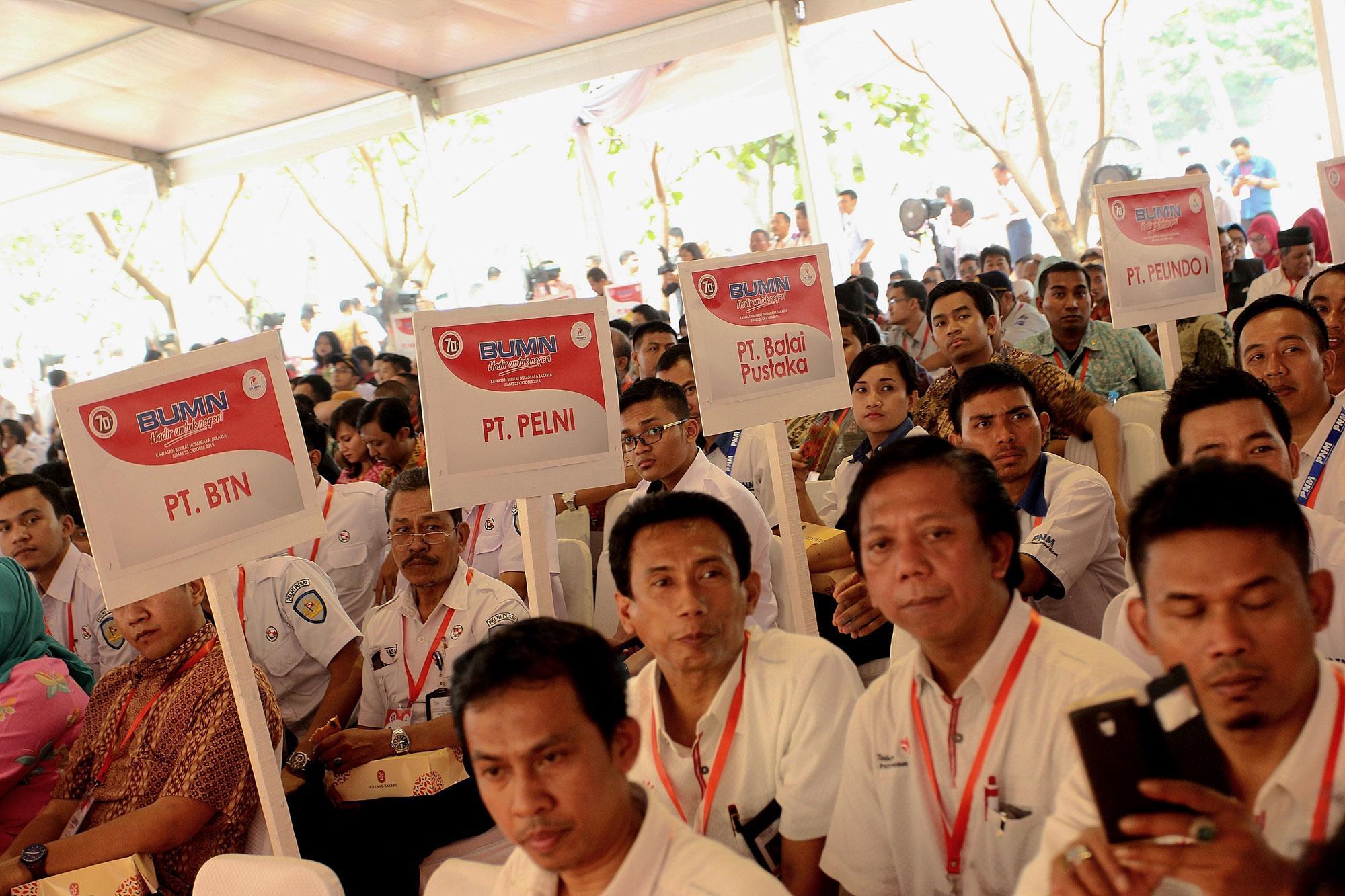 Dihadiri hampir 6000 karyawan tingkat dasar seluruh Kementerian BUMN Republik Indonesia beserta seluruh Badan Usaha Milik Negara (BUMN) di Indonesia, saat menggelar rangkaian acara \
