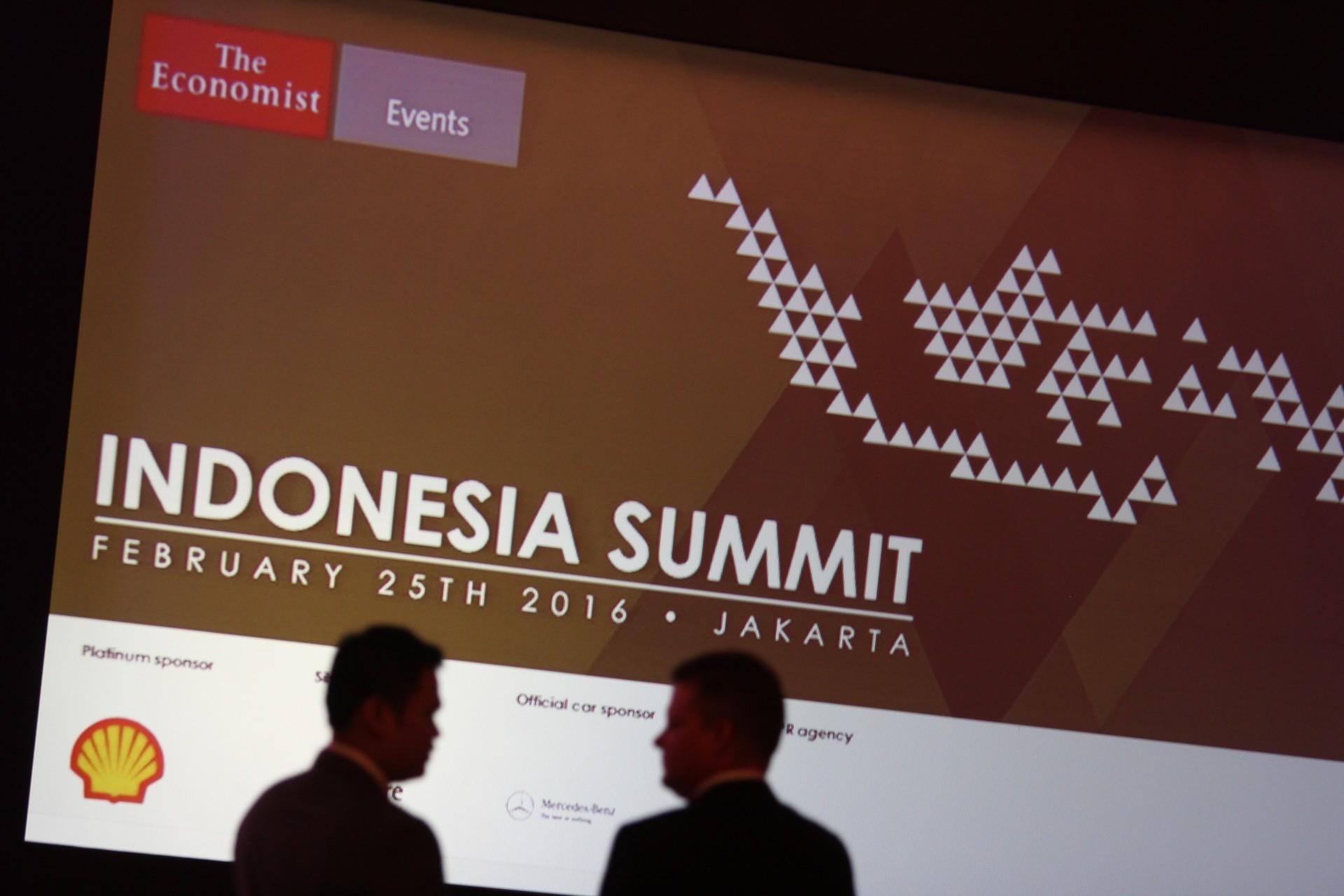 Suasana diskusi pada acara Indonesia Summit 2016 di Jakarta, Kamis, (24/02).
