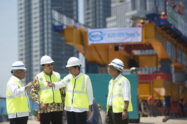 Jokowi kunjungi Proyek Simpamg Susun Semanggi
