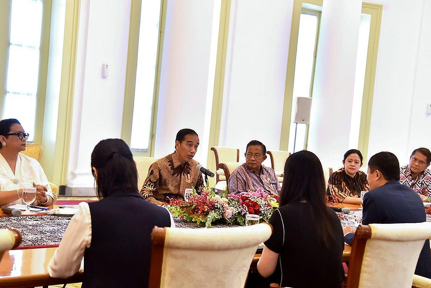 Pertemuan tersebut bagian dari lawatan salah satu orang terkaya di dunia ini ke Indonesia sekaligus untuk menghadiri penutupan Asian Games 2018 .