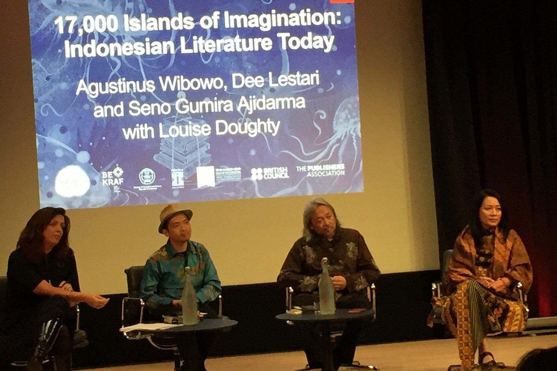 Suasana diskusi dalam London Book Fair, Senin (11/3/2019)