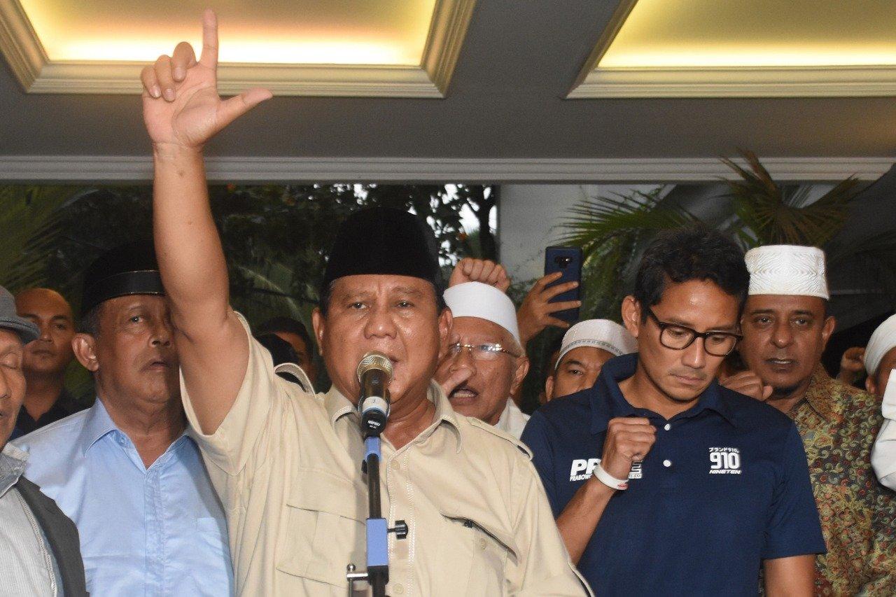 real count versi Prabowo