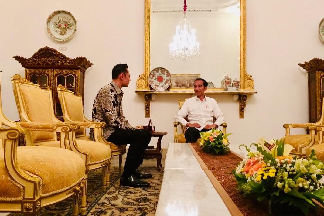 AHY bertemu Presiden Jokowi di Istana Merdeka, Kamis (2/5).