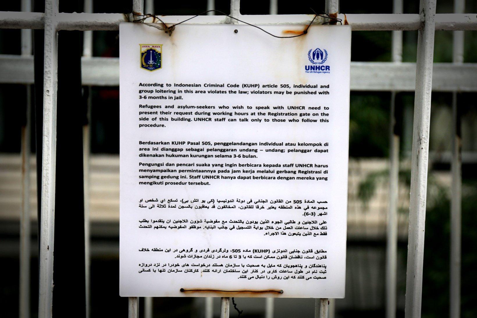 Menurut laporan tahunan Global Trens unhcr Hampir 70,8 juta orang yang dipindahkan secara paksa lebih banyak 2,3 juta dari tahun sebelumnya. Total ada 14.000 pengungsi terdaftar di Indonesia