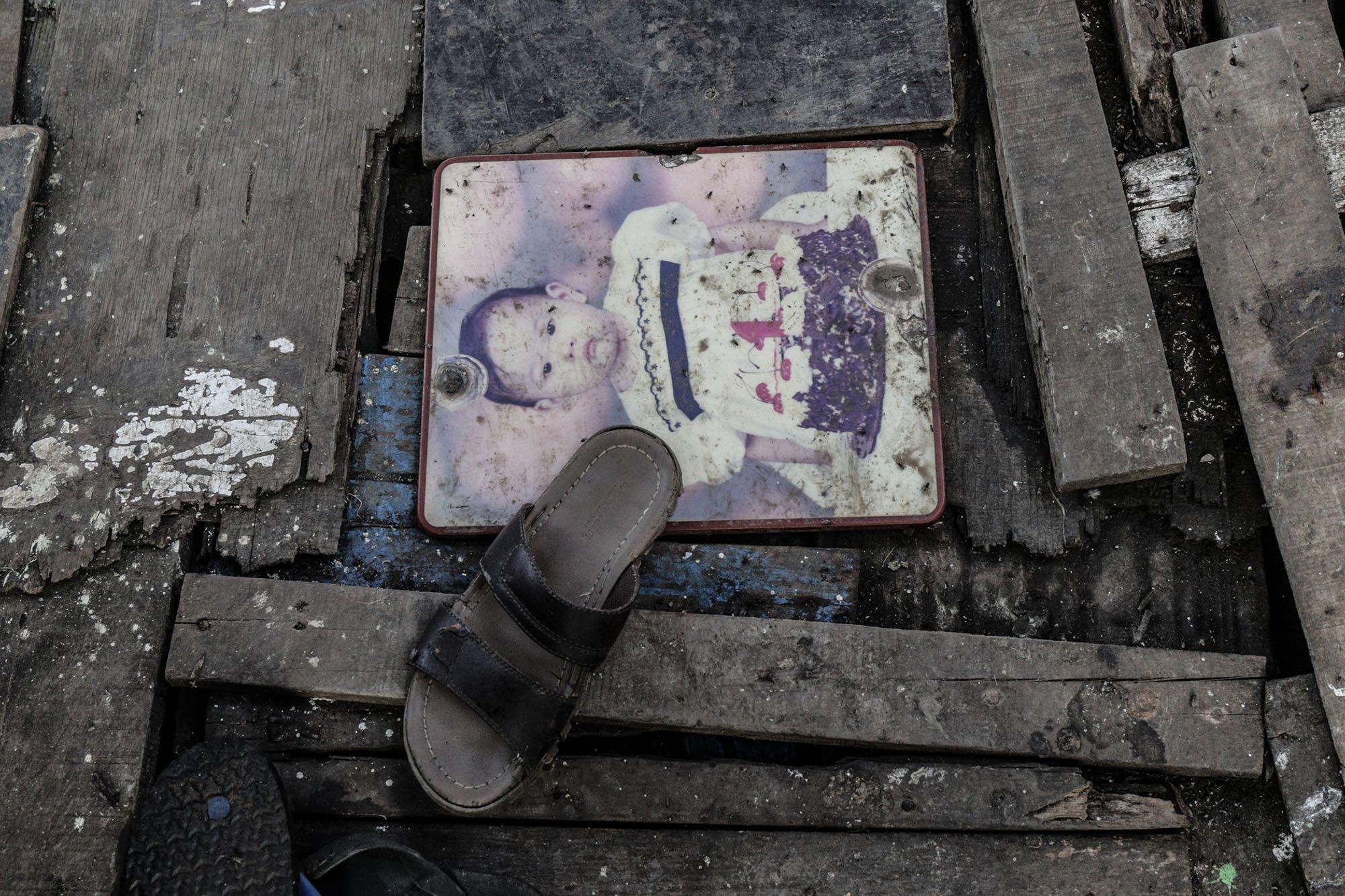 Tampak foto di Kampung Muara Baru, Penjaringan, Jakarta Utara, (11/9).