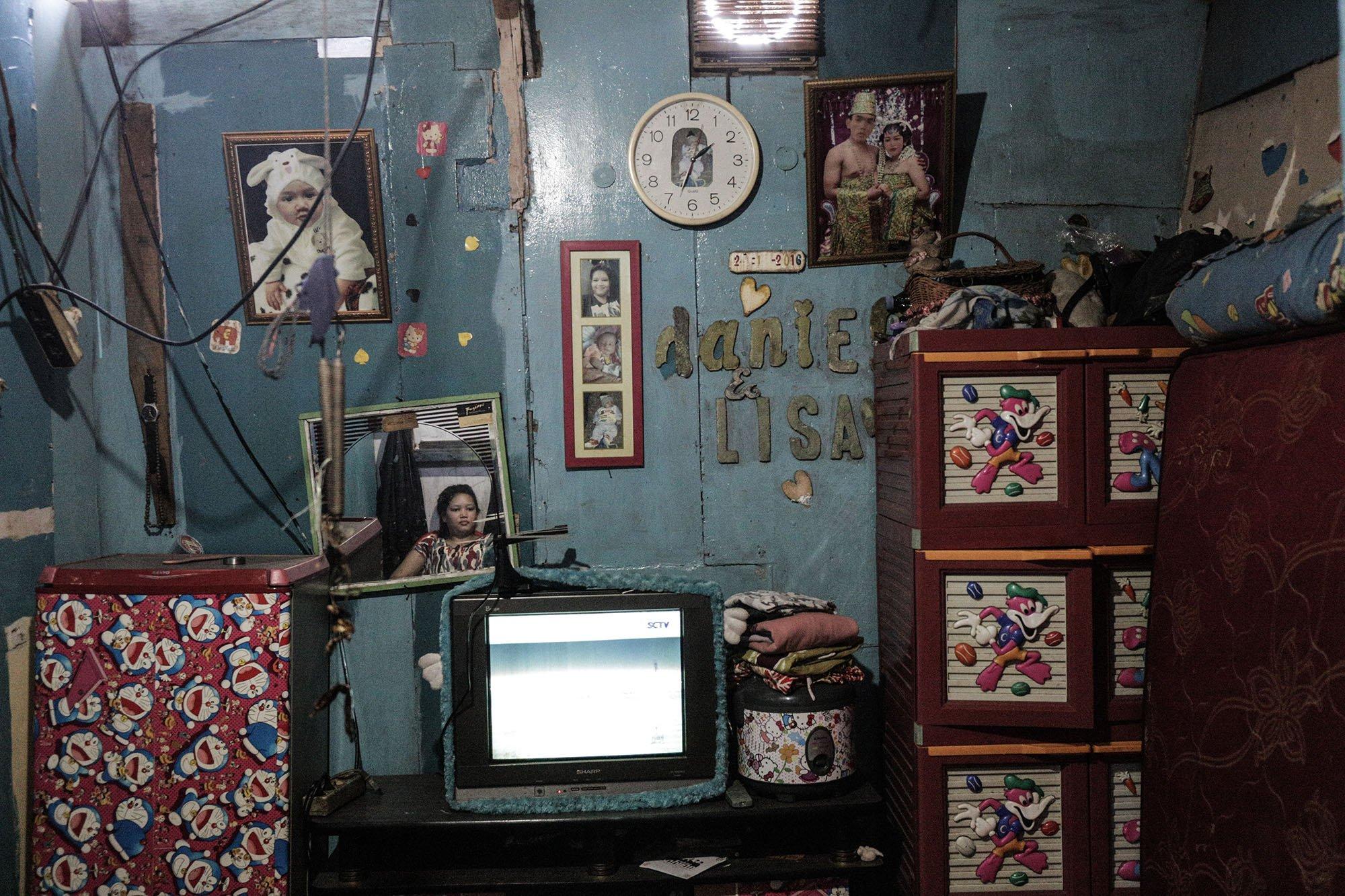 Tampak rumah Wahyu (48) di Kampung Muara Baru, Penjaringan, Jakarta Utara, (11/9).