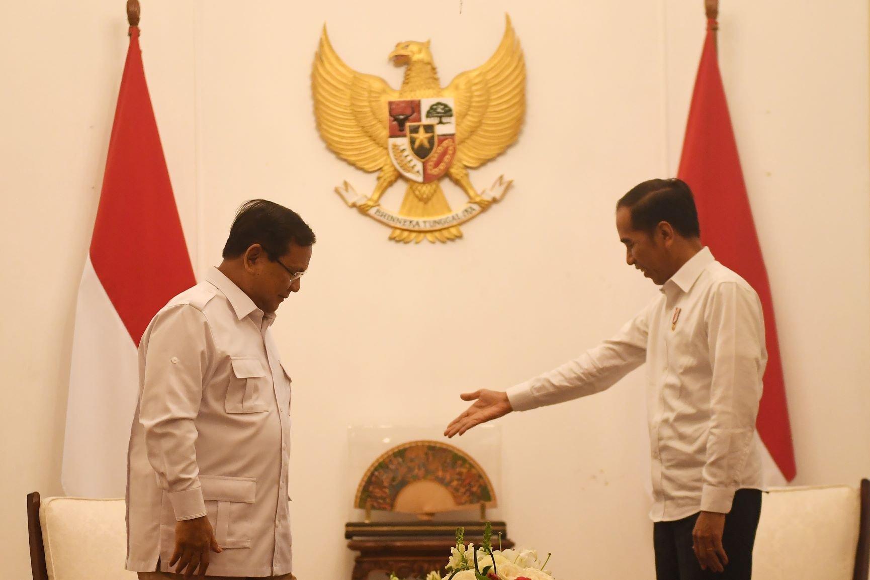 prabowo bertemu jokowi, gerindra masuk koalisi, bocoran kabinet jokowi maruf, susunan kabinet jokowi maruf