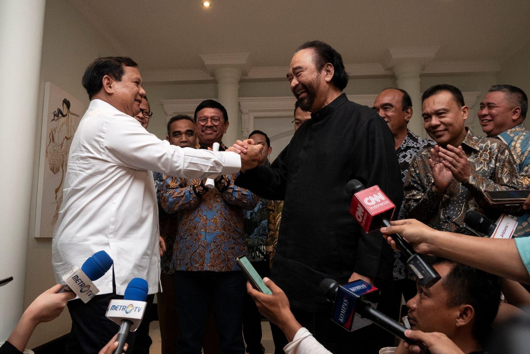 Pertemuan Prabowo dan Surya Paloh