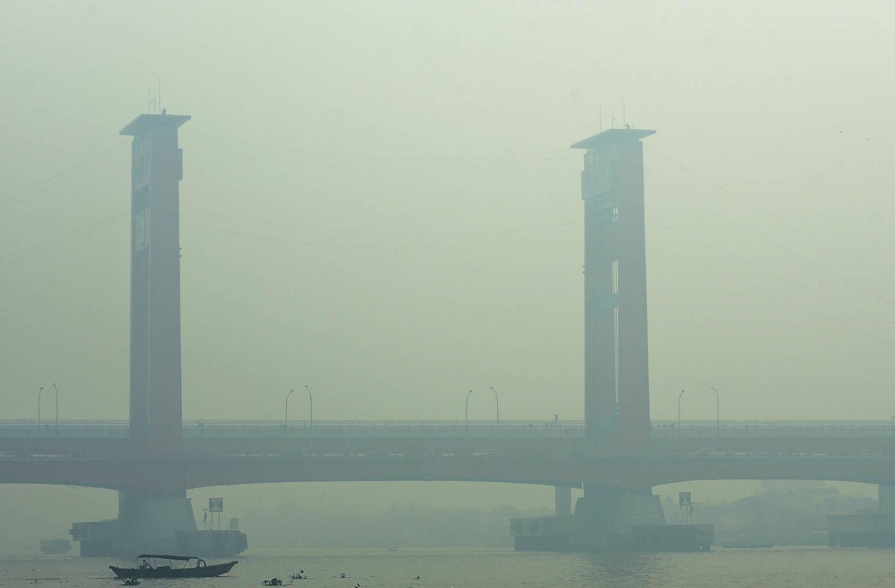 Kabut Asap di Palembang