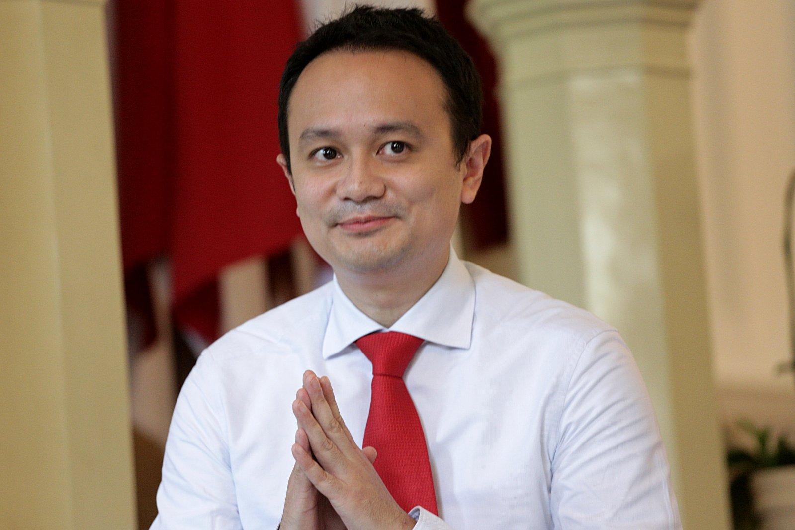 Wakil Menteri Perdagangan, Jerry Sambuaga (Golkar) di Istana Merdeka, Jakarta Pusat (25/10/2019). Jerry yang merupakan tokoh muda Golkar, akan mendampingi Menteri Perdagangan Agus Suparmanto dari Partai Kebangkitan Bangsa (PKB).
