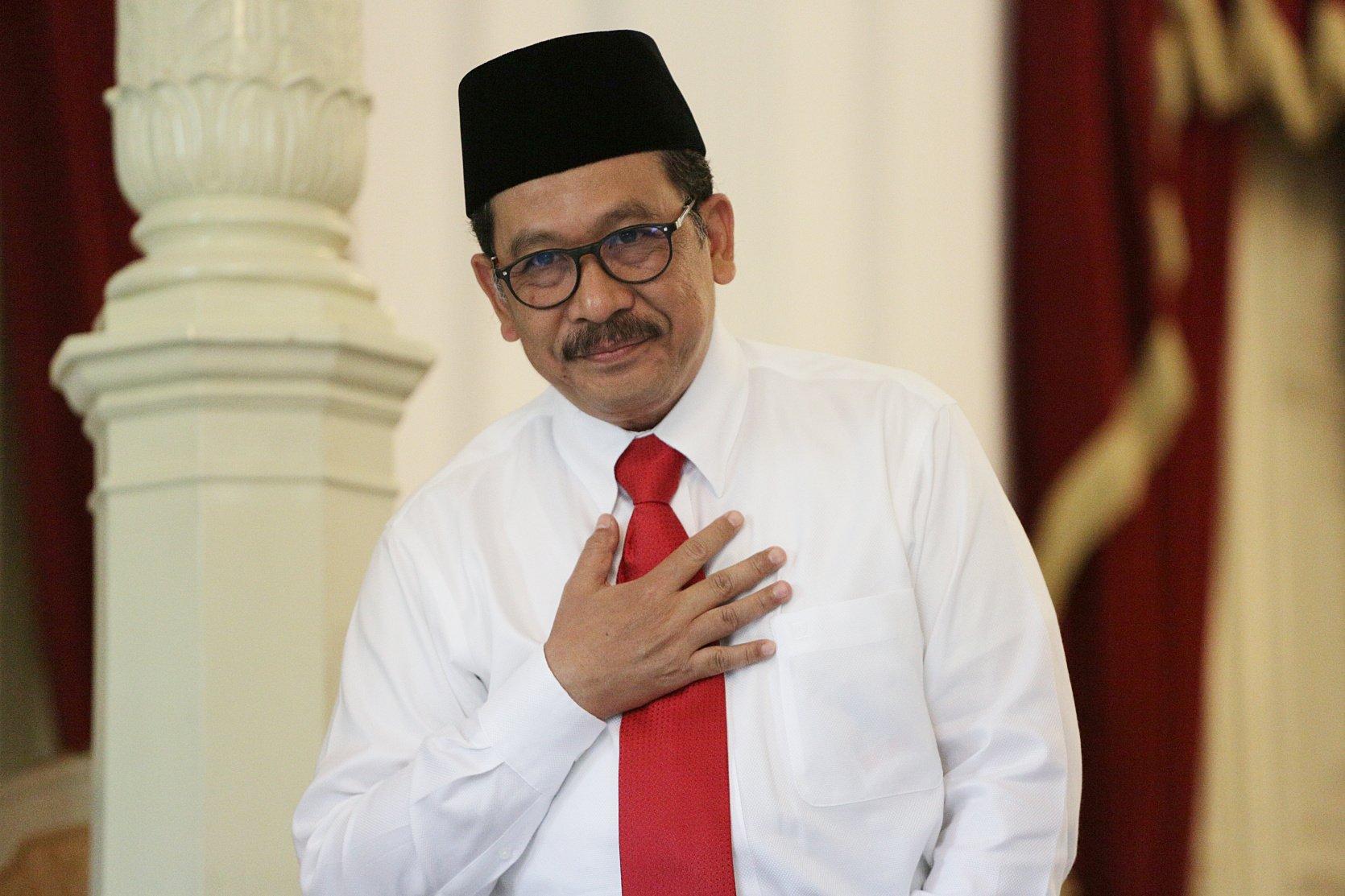 Wakil Menteri Agama, Zainut Tauhid Sa'adi di Istana Merdeka, Jakarta Pusat (25/10/2019). Zainut yang sebelumnya menjabat Wakil Ketua Majelis Ulama Indonesia (MUI) merupakan perwakilan Partai Persatuan Pembangunan (PPP)