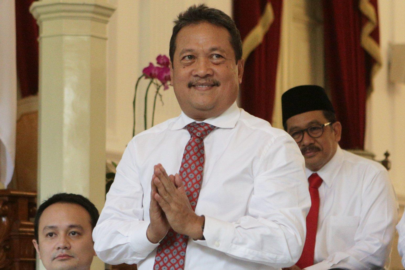 Wakil Menteri Pertahanan, Wahyu Sakti Trenggono di Istana Merdeka, Jakarta Pusat (25/10/2019). Wahyu yang merupakan mantan Bendahara Tim Kampanye Nasional (TKN) Jokowi-Ma'ruf akan berkolaborasi dengan Menteri Pertahanan Prabowo Subianto.