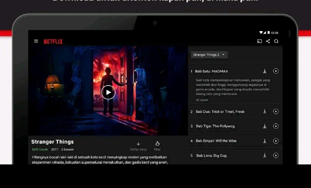 Ilustrasi tampilan Netflix. Menteri Keuangan Sri Mulyani menegaskan bahwa kementeriannya bakal mengejar pajak perusahaan asal Amerika Serikat (AS), Netflix.