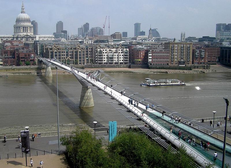 Millennium Bridge, London, Inggris