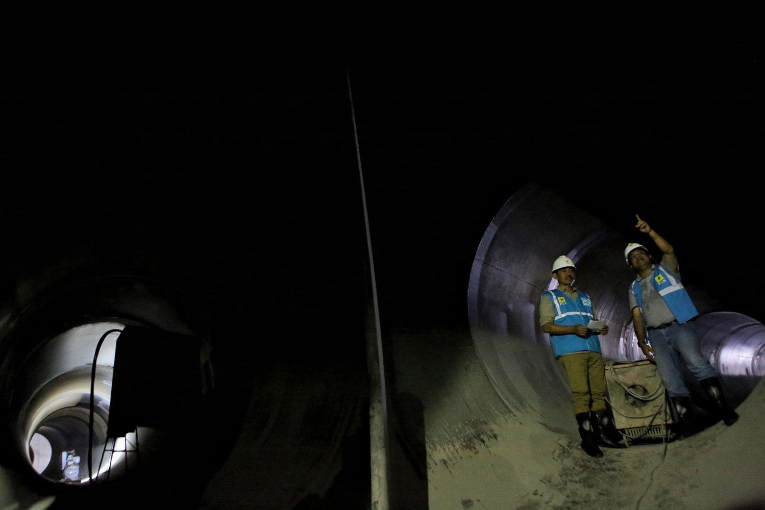 Pembangkit Listrik Tenaga Air (PLTA) Jatigede telah berhasil menyelesaikan pekerjaan Top Heading Excavation atau penggalian saluran air di headrace tunnel sepanjang 2.218,73 meter pada oktober 2019.