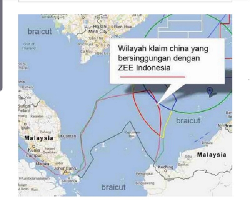 Peta Sengketa Perairan Laut Natuna