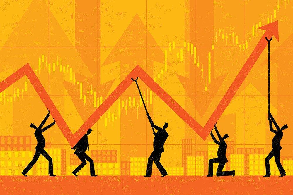 Sinyal pemulihan ekonomi mulai terlihat pada Juni atau saat masa new normal. Namun, ekonom memproyeksikan pertumbuhan ekonomi akan berjalan lambat.