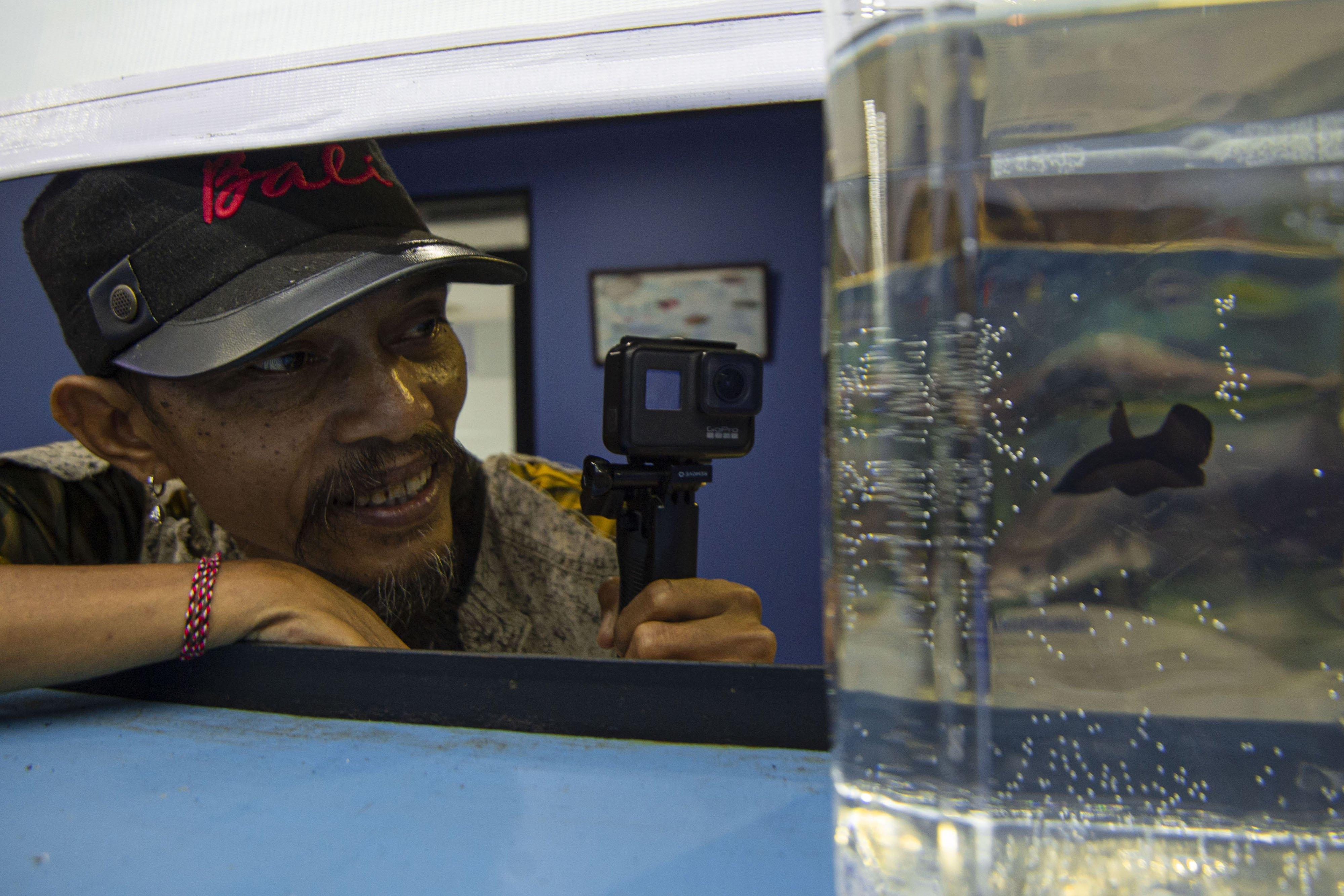Kreator konten video ikan cupang di YouTube, Dedi Yusolianto alias Deeway Gembel yang mendapat julukan \
