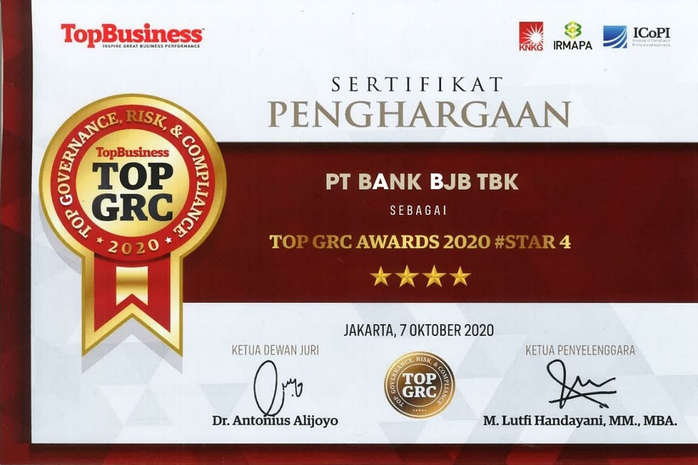 Penghargaan BJB Top GRC Awards 2020 #Star 4