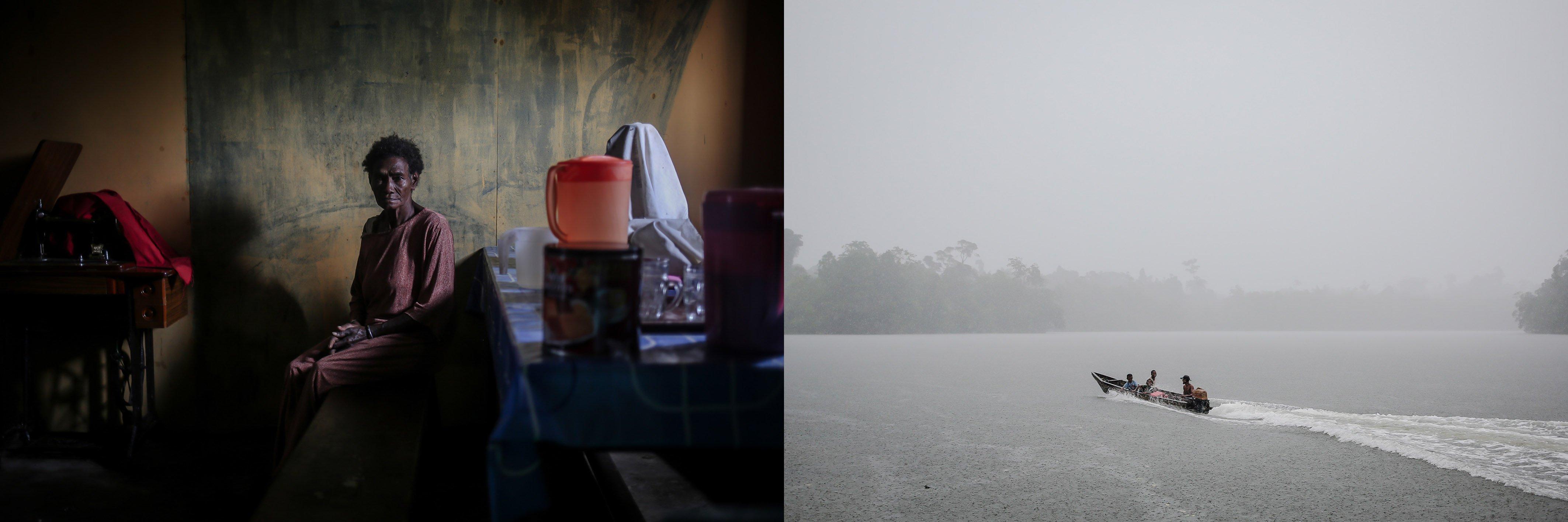 Ruth Nibra (65) duduk di dapur rumahnya di Distrik Segun, Kabupaten Sorong, Papua Barat, Selasa, (21/9/2021). Menurutnya hutan adat adalah wilayah keramat dan tak satupun orang boleh menyentuhnya, apabila perkebunan kelapa sawit sampai menguasai wilayah adat kami nanti maka itu adalah anacaman besar bagi anak, dan cucu kami nanti.