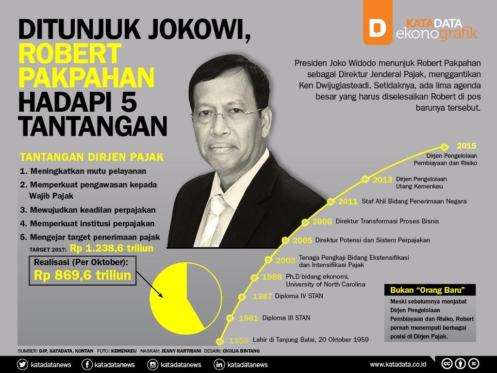Ditunjuk Jokowi, Robert Pakpahan Hadapi 5 Tantangan