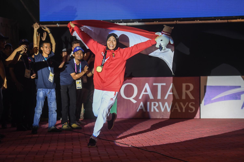 Atlet Indonesia Peraih Medali Emas Asian Games 2018, Aries Susanti Rahayu