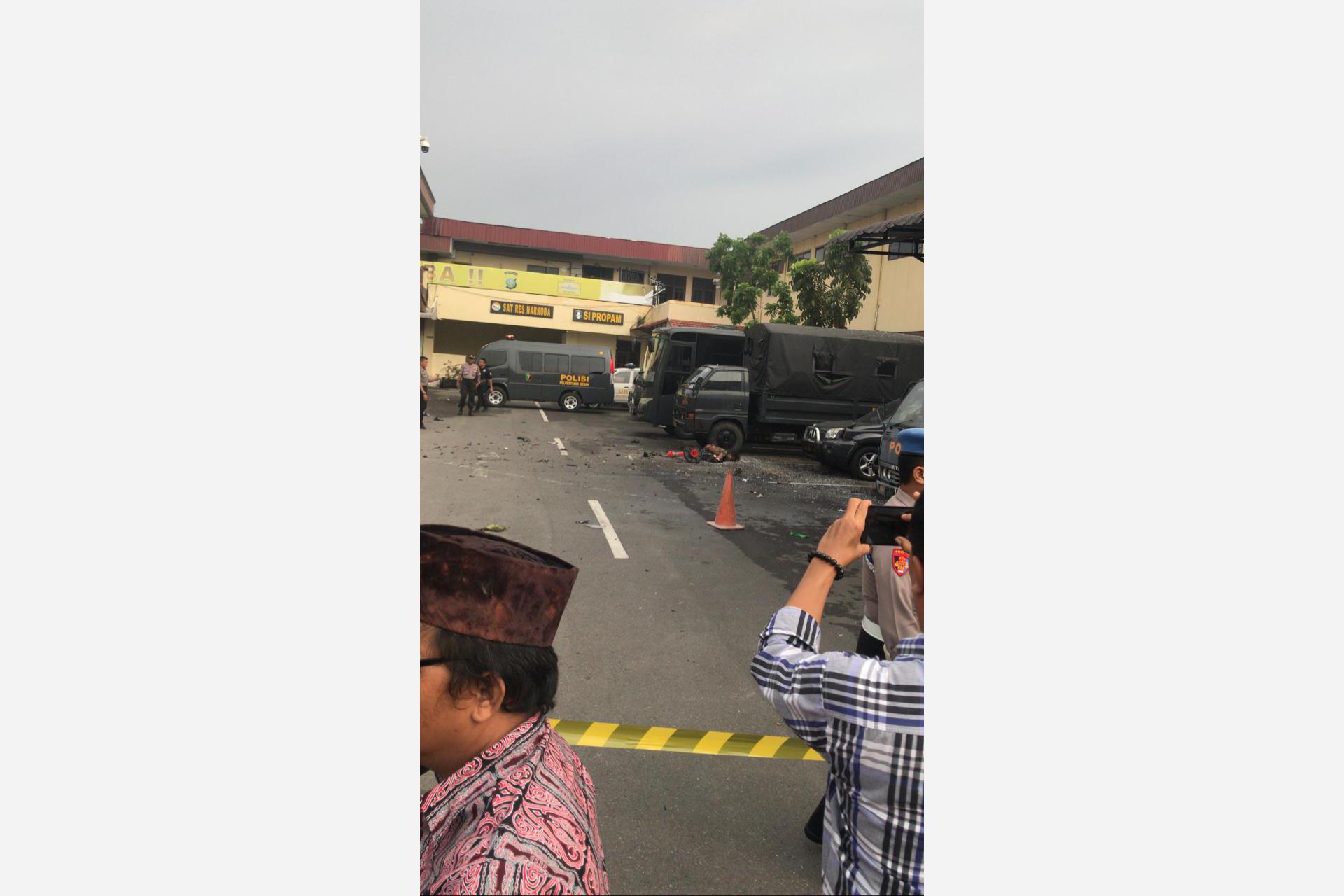 Bom di Mapolres Medan