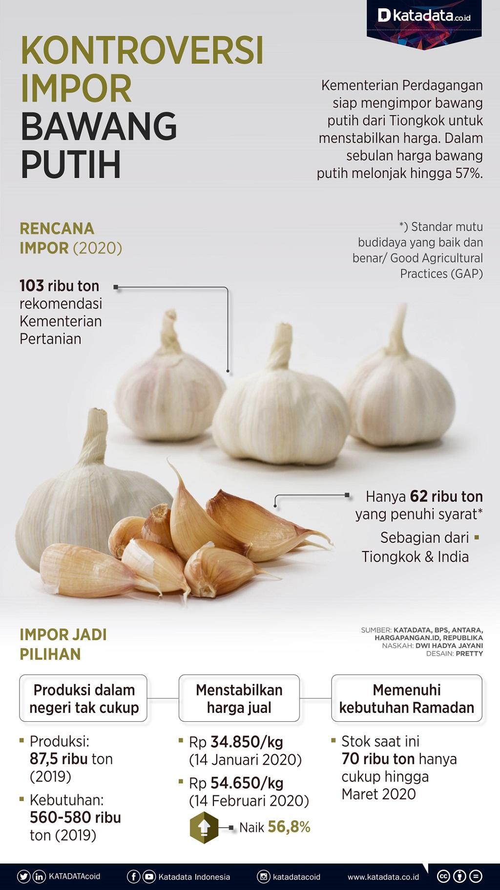 impor bawang putih