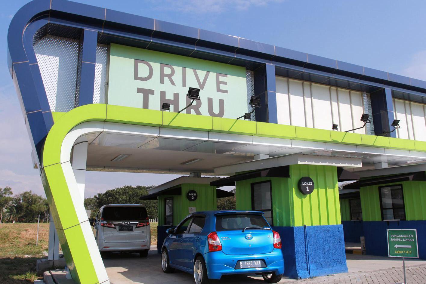RAPID TEST DRIVE THRU PENUMPANG PESAWAT