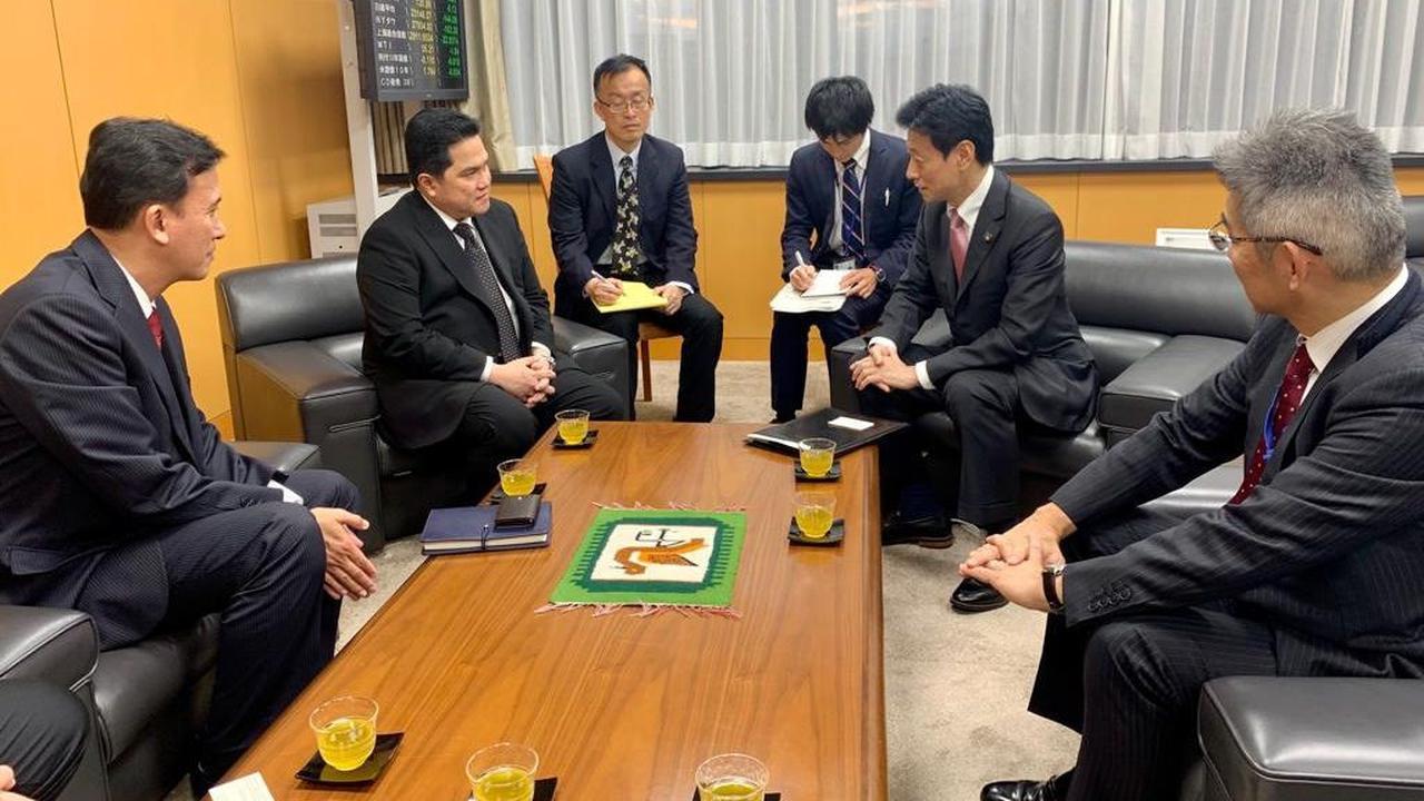 Menteri BUMN Erick Thohir Ajak Jepang Tingkatkan Kerja Sama di Bidang SDM