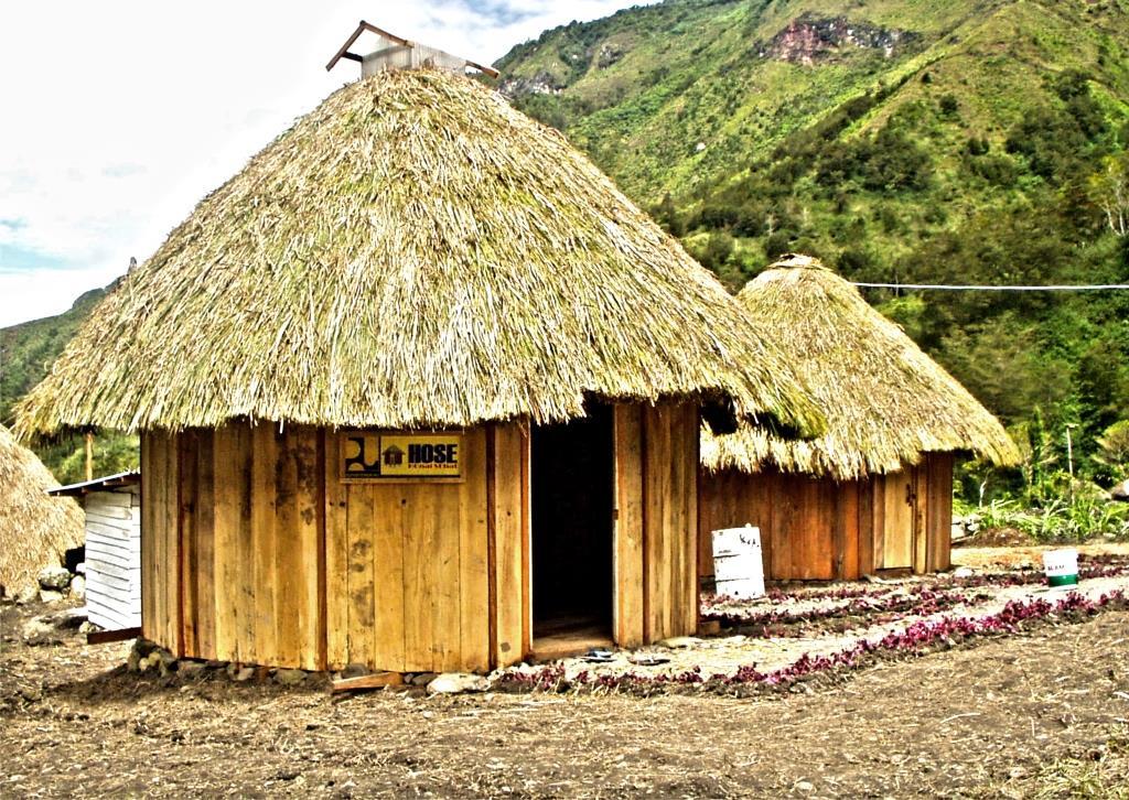 Gambar rumah adat Honai di Papua