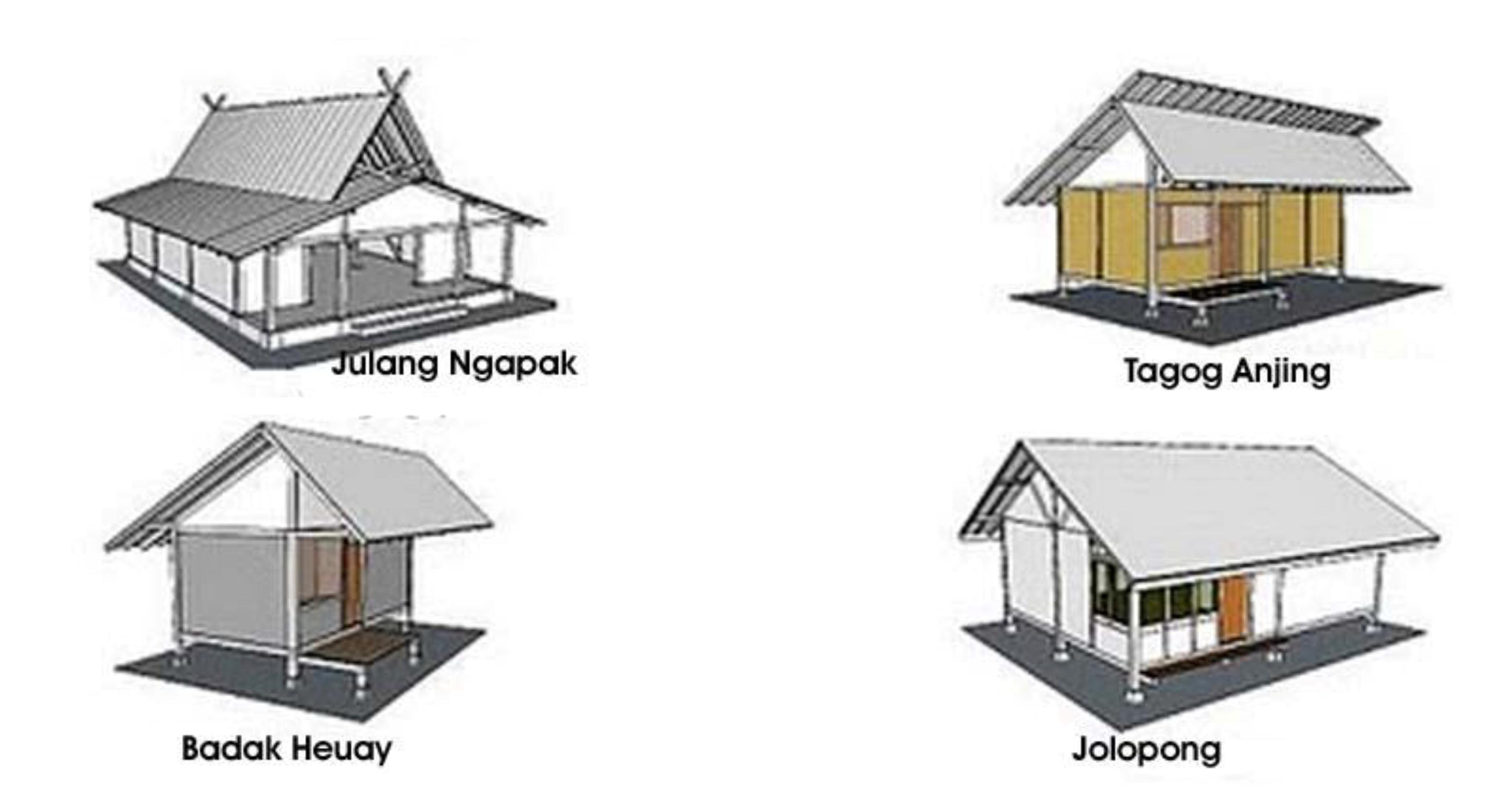 Bentuk rumah adat Jawa Barat