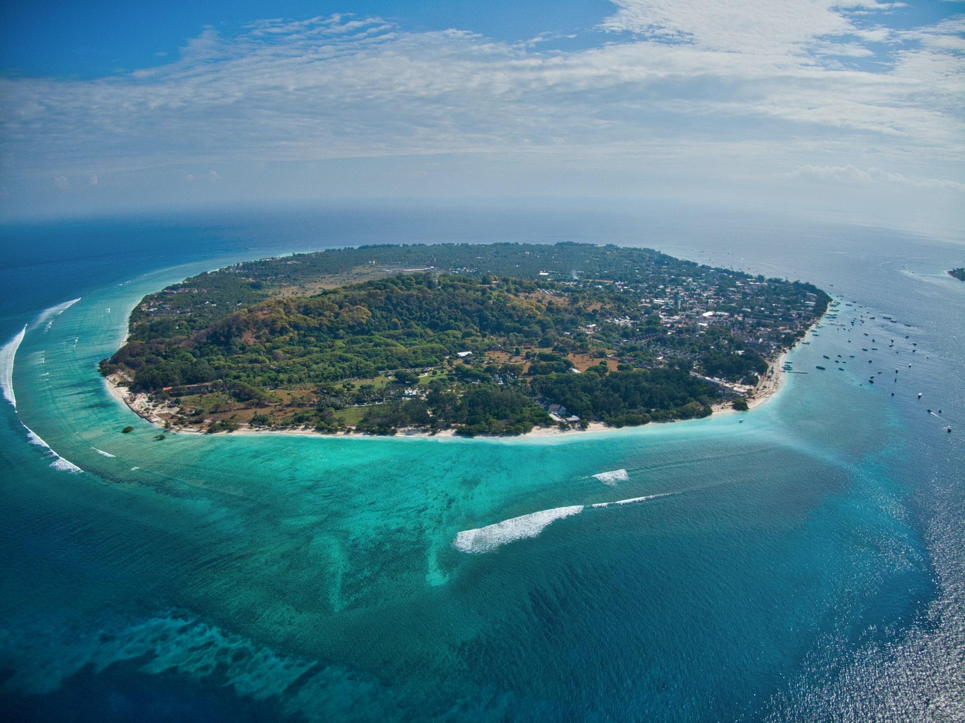 Pulau Gili Trawangan, Kepulauan Gili, Lombok, Nusa Tenggara Barat