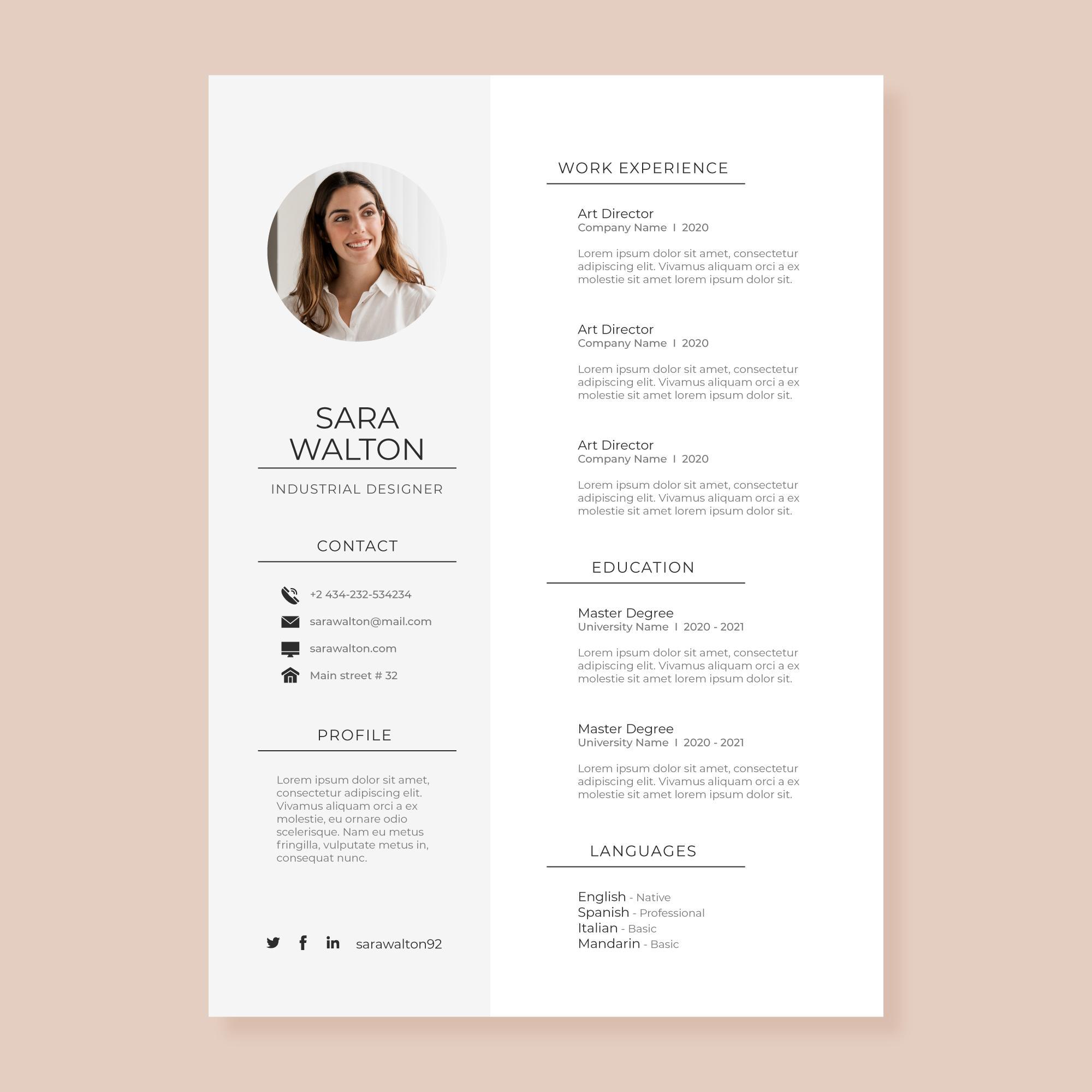 Contoh CV Modern