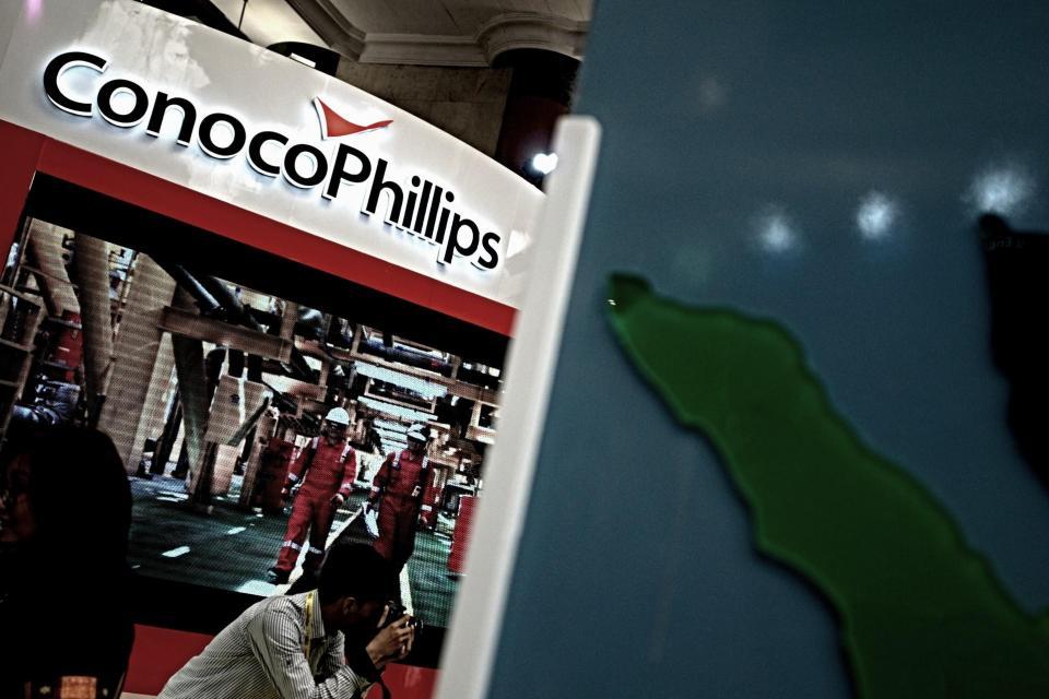 Ilustrasi, logo ConocoPhillips. ConocoPhillips meminta klarifikasi dari pemerintah terkait rencana penghentian ekspor gas ke Singapura dari Blok Corridor pada 2023 mendatang.