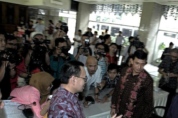 Menteri Energi dan Sumber Daya Mineral Sudirman Said dan Presiden Direktur PT Freeport Indonesia Maroef Sjamsuddin