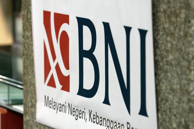 Logo BNI. BNI Sekuritas terkena sanksi surat peringatan tertulis dan denda Rp 250 juta terkait penyajian laporan modal kerja yang tidak akurat.