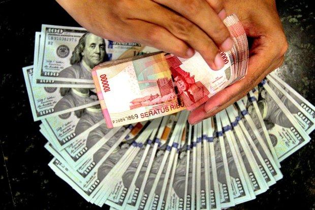 rupiah, dolar AS