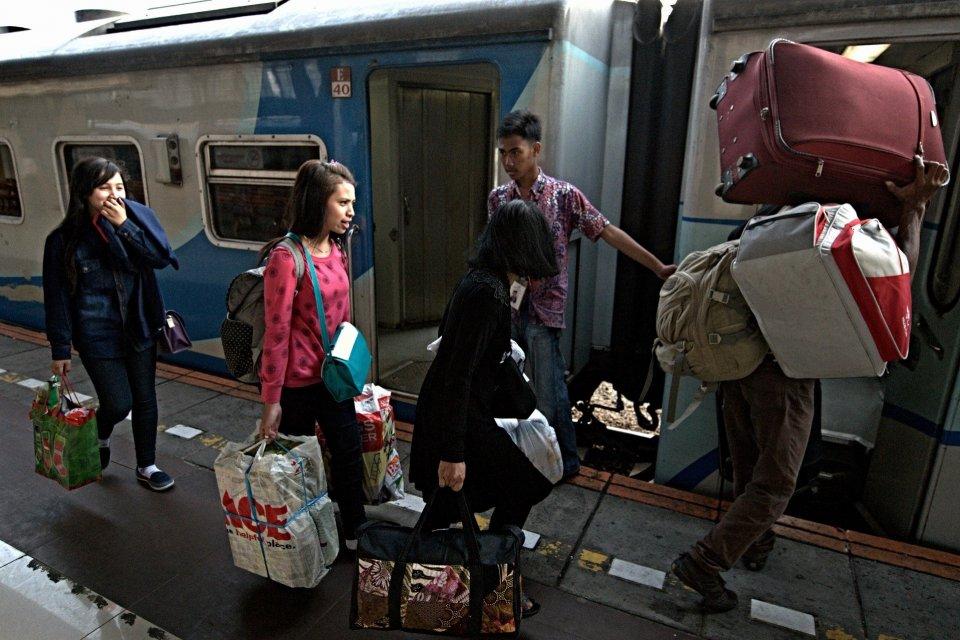 Pemudik Mulai Tinggalkan Jakarta, Penumpang Kereta Lebaran Melonjak