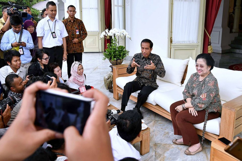 pertemuan Jokowi, Prabowo dan Megawati