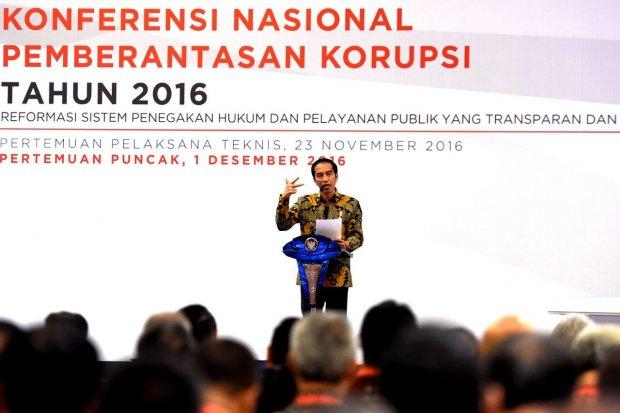 Jokowi Konferensi Korupsi