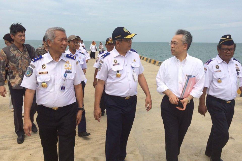 Menteri Transportasi Jepang, Keiichi Ishii, kunjungi lokasi Pelabuhan Patimban
