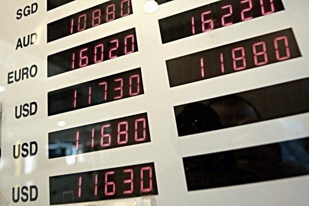 Ilustrasi kurs berbagai mata uang asing terhadap Rupiah.
