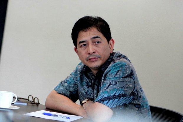 Direktur Utama Indika Energy, Arsjad Rasjid, saat jumpa pers terkait mundurnya Wishnu Wardana sebagai Komisaris Utama Indika Energy di Jakarta, Jumat, (27/01).