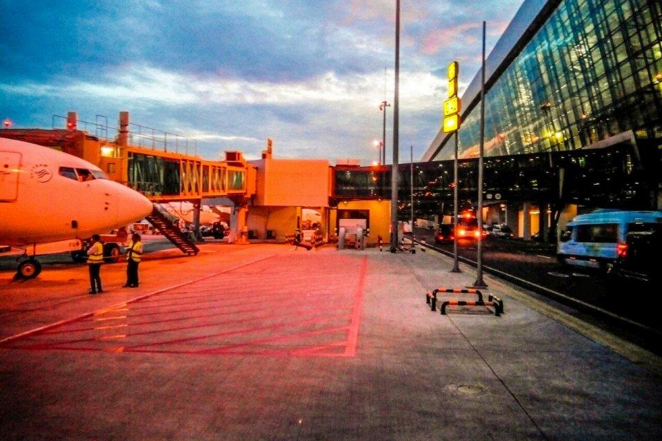 Terminal 3 Bandara Internasional Soekarno Hatta, Cengkareng, Tangerang, Banten.