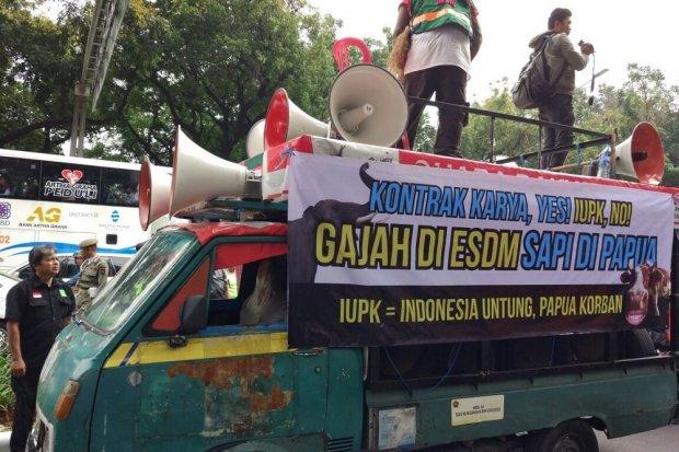 Demonstrasi Pekerja Freeport Indonesia