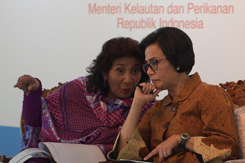 Sri Mulyani, Susi Pudjiastuti, menteri kabinet Jokowi