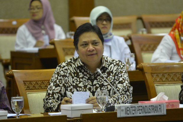 Menteri Perindustriann Airlangga Hartarto